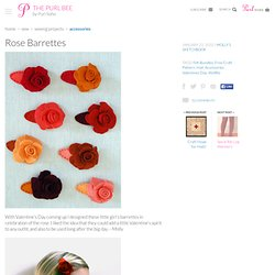 Rose Barrettes