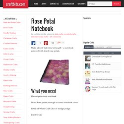 Rose Petal (Real Ones) Notebook