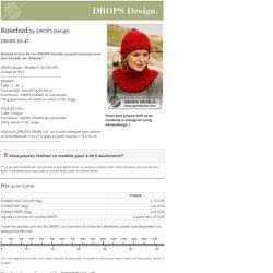 """Rosebud - Bonnet et tour de cou DROPS tricotés au point mousse avec une torsade, en """"Eskimo"""". - Free pattern by DROPS Design"""