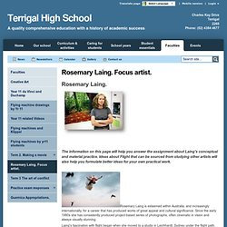 Rosemary Laing. Focus artist. - Terrigal High School