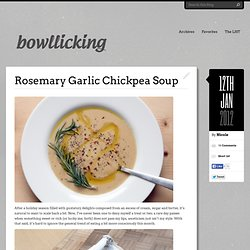 Rosemary Garlic Chickpea Soup