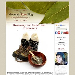 Rosemary and Sage Boot Fresheners