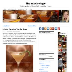 Infusing Flavor into your Bar Syrup « The Intoxicologist Is In