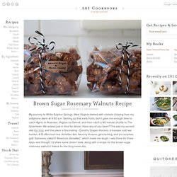 Brown Sugar Rosemary Walnuts Recipe