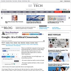 Steve Rosenbaum: Google: At a Critical Crossroads