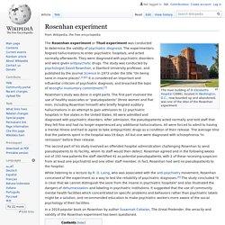 Rosenhan experiment