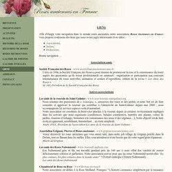 Roses Anciennes en France - Liens