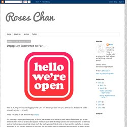 Roses Chan: Depop: My Experience so Far ...