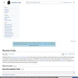 Rosetta Code