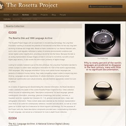Rosetta Collection - The Rosetta Project