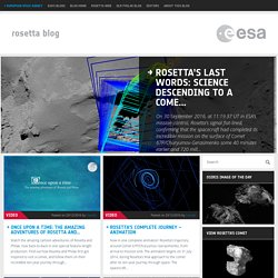 Rosetta - ESA's comet chaser