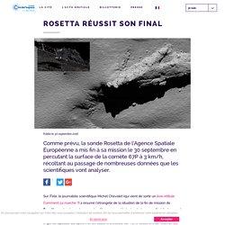Rosetta réussit son final - Cité de l'Espace