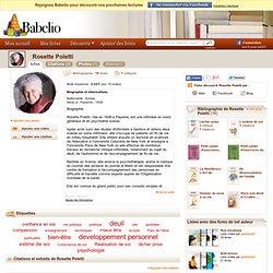 Rosette Poletti - Livres, citations, photos et vidéos