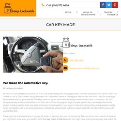 Fast Car key made in Sacramento, CA