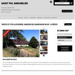 Vente ST CYR LA ROSIERE, Maison de campagne 98 m² - 4 pièces, ST CYR LA ROSIERE - Saint Pol Immo