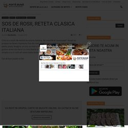 Sos de rosii, reteta clasica italiana