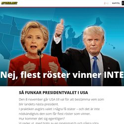Nej, flest röster vinner INTE – så funkar presidentvalet - USA-valet