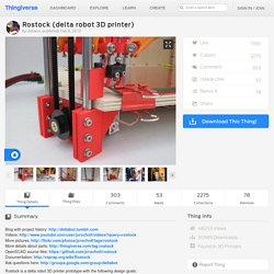 Rostock (delta robot 3D printer) by Johann