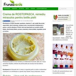 Crema de ROSTOPASCA, remediu miraculos pentru bolile pielii
