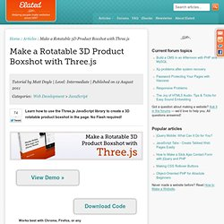 Make a Rotatable 3D Product Boxshot with Three.js