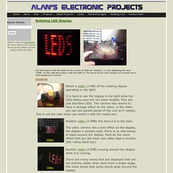 Rotating LED Display - Alan Parekh's Electronic Projects