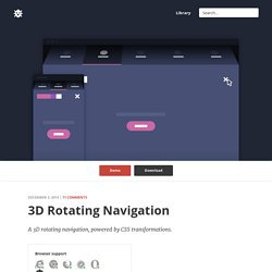 3D Rotating Navigation in CSS and jQuery
