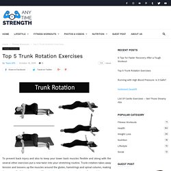 Top 5 Trunk Rotation Exercises, Best Trunk Rotation Workout