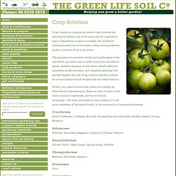 Crop Rotation - a gardening fact sheet by the Green Life Soil Co.