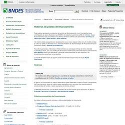 Roteiros de pedido de financiamento - BNDES