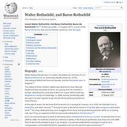 Lionel Walter Rothschild 1868-1937