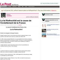 La loi Rothschild est la cause de l'endettement de la France - revolution sur LePost.fr (16:04)