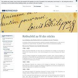 Rothschild au fil des siécles