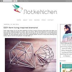 DIY: ferm living inspired diamond
