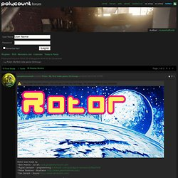 Rotor: My first indie game (Schmup)