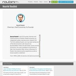 Global Economics - Nouriel Roubini