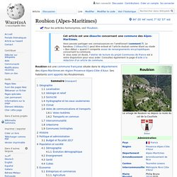 Roubion (Alpes-Maritimes)