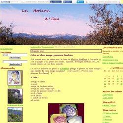 Cake au chou rouge, pommes, lardons - Les Horizons d'Ewa