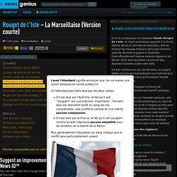La Marseillaise explicaion de texte