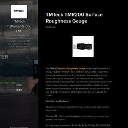 TMTeck TMR200 Surface Roughness Gauge