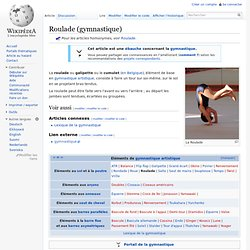 Roulade (gymnastique)