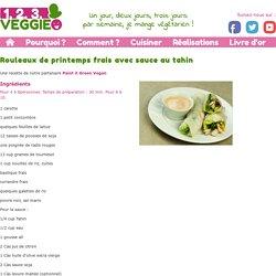 Rouleaux de printemps frais avec sauce au tahin1.2.3. Veggie