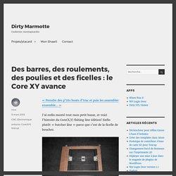 Des barres, des roulements, des poulies et des ficelles : le Core XY avance – Dirty Marmotte