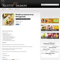 Roulés au saumon et au fromage frais