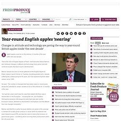 Year-round English apples 'nearing'