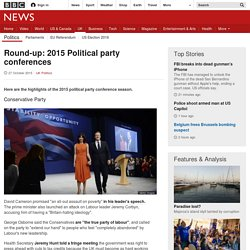 Round-up: 2015 Political party conferences