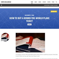 How to Buy a Round-the-World Plane Ticket