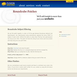 Roundcube Subject Filtering - Fusion Reactions - Web Design Rochester NY