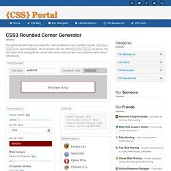 CSS3 Rounded Corner Generator