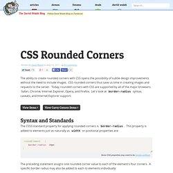 CSS Rounded Corners - border-radius