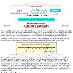 Rounding Numbers: EnchantedLearning.com